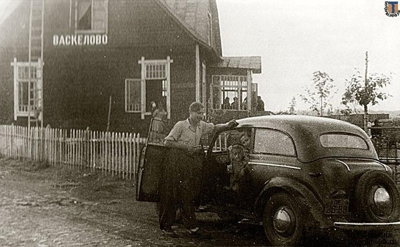 Старое фото вокзала в посёлке Васкелово - 1960-е года
